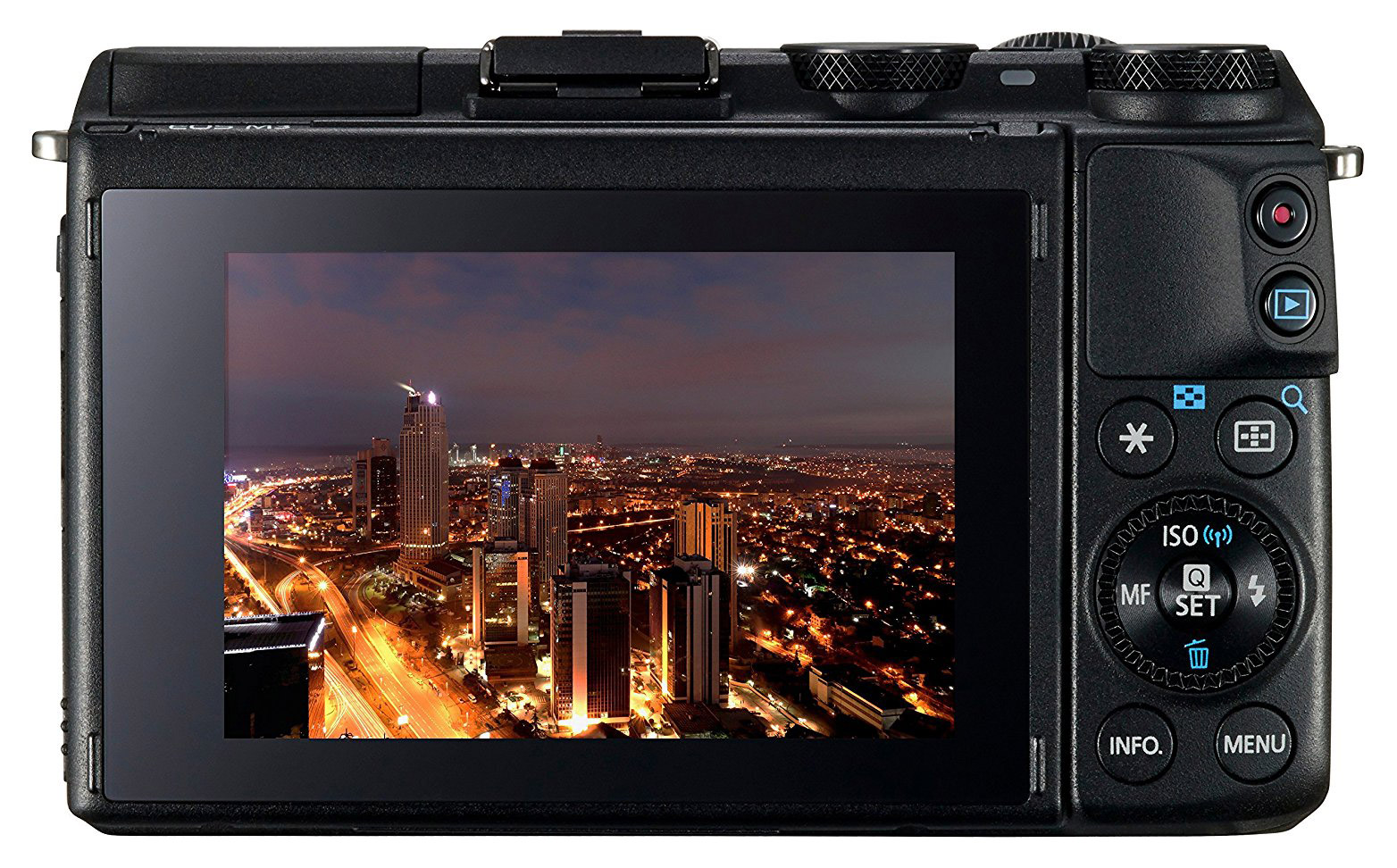 EOS M3 display and touch screen