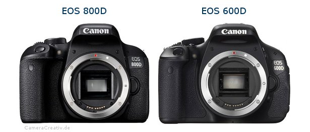 EOS 800D vs EOS 600D - Side by side