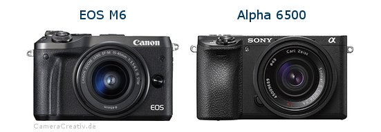 EOS M6 vs Alpha A6500 - Side by side