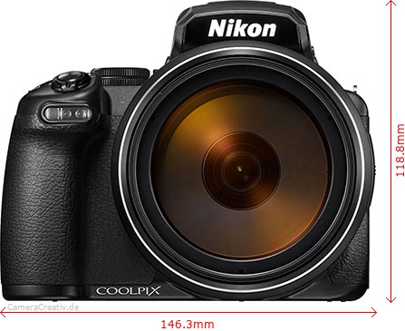 Nikon Coolpix P1000 Dimensions (Width / Height)